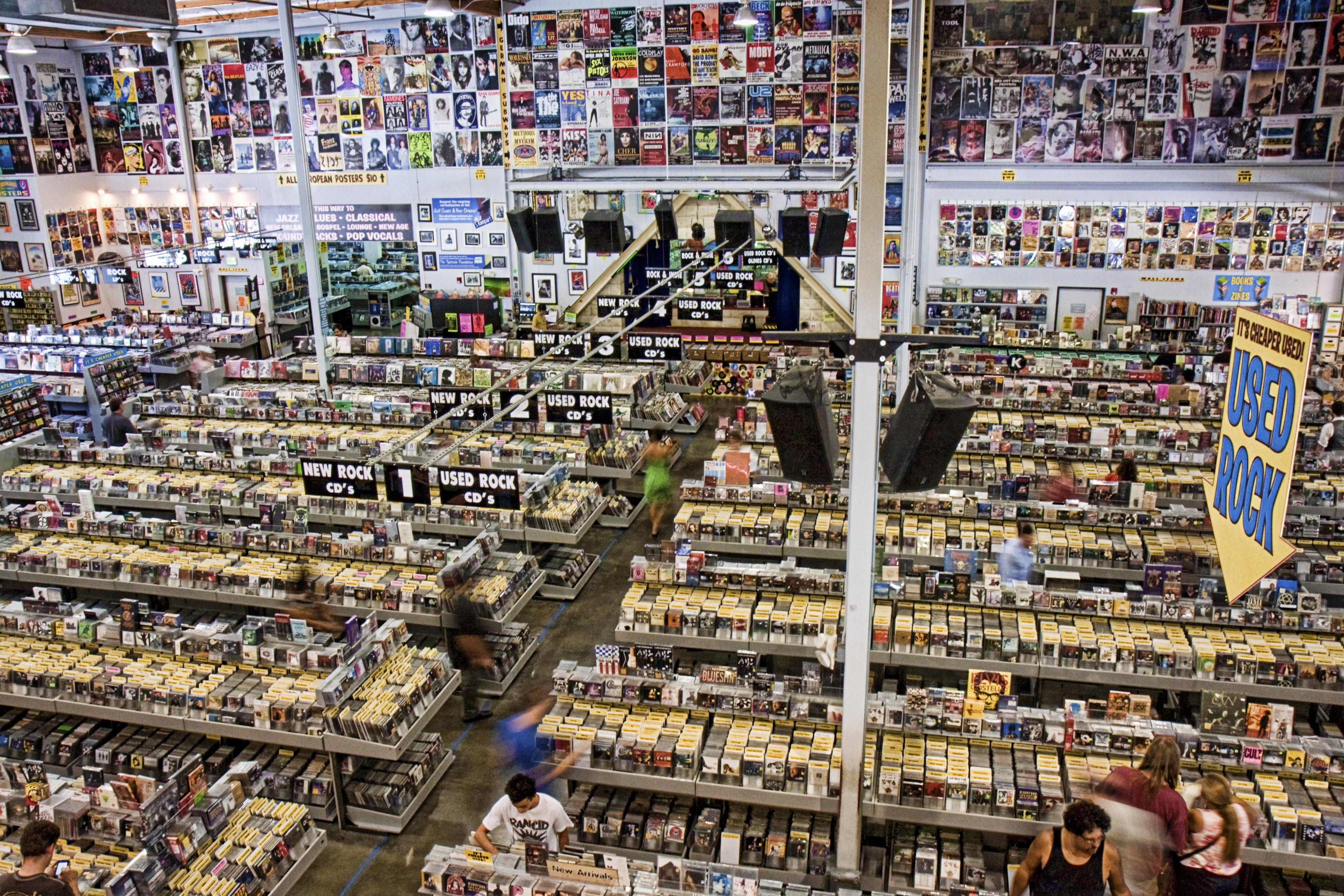 Amoeba Records on Sunset Boulevard.